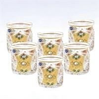 Набор стаканов для виски золото Sonne Crystal 300 мл(6 шт)