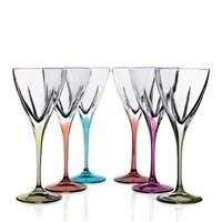 Набор бокалов для вина RCR Fusion COLOUR 210мл (6 шт)