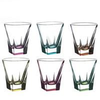 Набор стаканов для виски RCR Fusion COLOUR 270мл (6 шт)