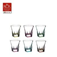 Набор стопок для водки RCR Fusion COLOUR 60мл (6 шт)