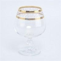 Набор бокалов для бренди Crystalex Bohemia Золотой Лист V-D 250 мл(6 шт)