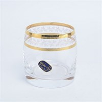 Набор стаканов для виски Crystalex Bohemia Золотой Лист V-D 230 мл(6 шт)