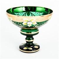 Конфетница Зеленая Bohemia Star Crystal 13 см