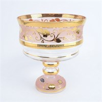 Конфетница розовая Bohemia Star Crystal 20 см