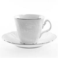 Набор чайных пар ведерка Bernadotte Платиновый узор 200 мл(6 пар)