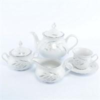 Чайный сервиз Thun Констанция Серебряные колосья 6 персон 17 предметов