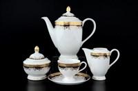 Кофейный сервиз Thun Кристина Черная Лилия 6 персон 17 предметов