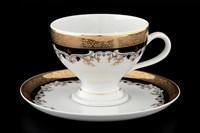 Набор чайных пар Thun Кристина Черная Лилия 220мл (6 пар)