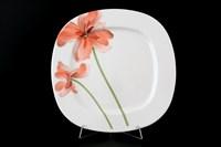 Набор тарелок 25 см Леон Красные маки (6 шт)
