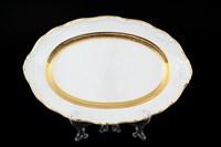 Блюдо овальное Thun Мария Луиза золотая лента 32 см