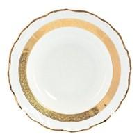 Набор глубоких тарелок Thun Мария Луиза золотая лента 23 см(6 шт)