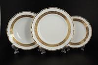 Набор тарелок Thun Мария Луиза золотая лента 18 предметов