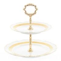 Этажерка (Горка) Thun Мария Луиза золотая лента 2 яруса