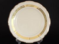 Блюдо круглое Thun Мария Луиза золотая лента Ivory 30см