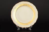 Набор тарелок Thun Мария Луиза Золотая лента Ivory 19см (6 шт)