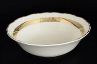 Салатник Thun Мария Луиза Золотая лента Ivory 25см