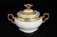 Сахарница Thun Мария Луиза Золотая лента Ivory 250мл