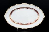 Блюдо овальное Thun Мария Луиза Красная лилия 32см