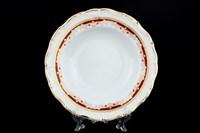 Набор глубоких тарелок Thun Мария Луиза Красная лилия 23см (6 шт)