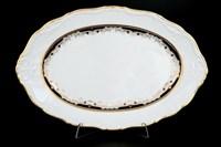 Блюдо овальное Thun Мария Луиза синяя лилия 32 см