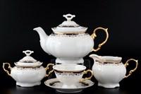 Чайный сервиз на 6 персон Thun Мария Луиза синяя лилия 17  предметов