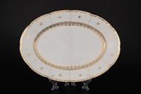 Блюдо овальное Thun Менуэт Золотой орнамент 36см