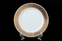 Набор тарелок Thun Опал Широкий кант платина золото 17см (6 шт)