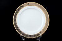 Набор тарелок Thun Опал Широкий кант платина золото 25см (6 шт)