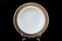 Набор тарелок глубоких Thun Опал широкий кант платина золото 22 см(6 шт)