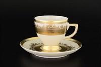 Набор кофейных пар Falkenporzellan Crem Gold 110мл(6 пар)