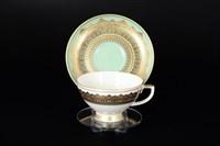 Набор чайных пар Falkenporzellan Agadir Seladon Gold 220мл(6 пар)