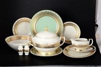 Столовый сервиз Falkenporzellan Agadir Seladon Gold 6 персон 26 предметов