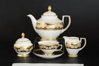 Чайный сервиз Falkenporzellan Belvedere Combi Black Gold 6 персон 17 предметов