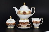 Чайный сервиз Falkenporzellan Donna bordeaux gold 6 персон 17 предметов