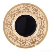 Набор тарелок Falkenporzellan Harmony Crem Black 21см(6 шт)