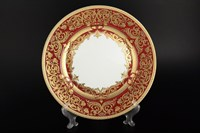 Набор тарелок Falkenporzellan Natalia bordeaux gold 28,5 см(6 шт)