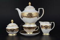Чайный сервиз на 6 персон Falkenporzellan Natalia cobalt gold 17 предметов
