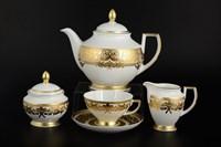 Чайный сервиз на 6 персон Falkenporzellan Natalia creme gold 17 предметов