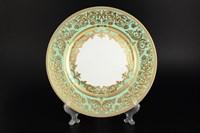 Набор тарелок Falkenporzellan Natalia seladon gold 28.5 см(6 шт)