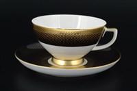 Набор чайных пар Falkenporzellan Rio black gold 220мл(6 пар)