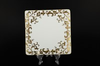 Набор тарелок квадратных Falkenporzellan Tosca Wahite Gold 21см(6 шт)