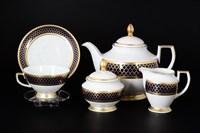 Чайный сервиз Falkenporzellan Valencia Cobald Gold на 6 персон 17 предметов