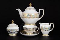 Чайный сервиз Falkenporzellan Vienna blue gold 6 персон 15 предметов