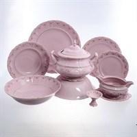 Столовый сервиз на 6 персон 25 предметов Соната Мелкие цветы Розовый фарфор