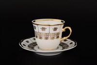 Набор кофейных пар Thun Менуэт обводка золото 135 мл(6 пар)