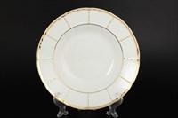 Набор глубоких тарелок Thun Менуэт Обводка золото 23см (6 шт)