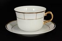 Набор чайных пар Thun Менуэт Обводка золото 240мл (6 пар)