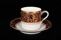 Набор кофейных пар Arte Italia Ксавье золото 12 предметов 110мл (6 пар)