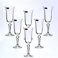 Набор фужеров для шампанского Crystalite Bohemia Laura/Falco 150 мл(6 шт)