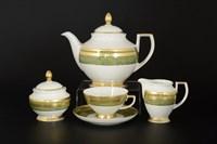 Чайный сервиз Falkenporzellan Green Gold 6 персон 17 предметов